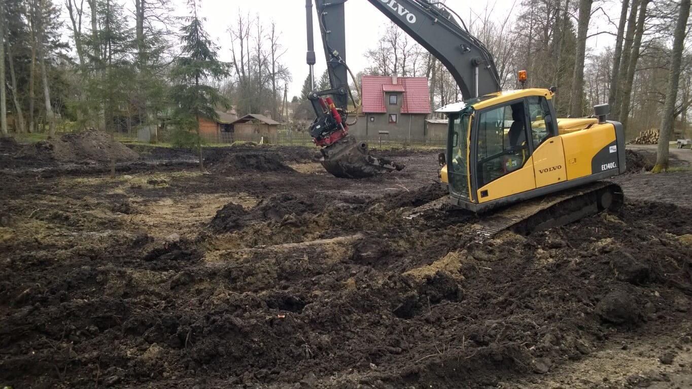 Kaevetööd, pinnasehitus, pinnasekaevamine